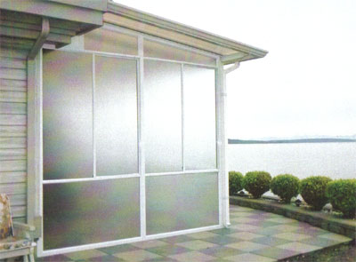 A wind wall makes outdoor living space more livable