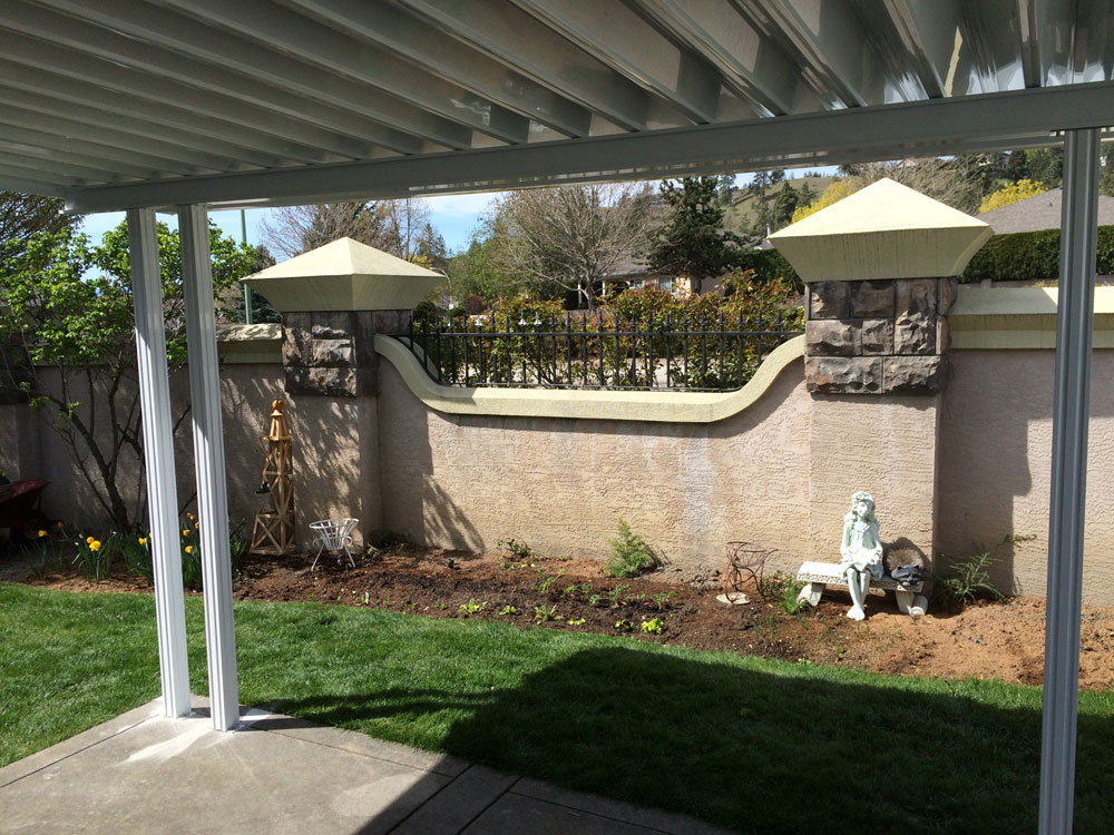 Durable Patio Cover. Glass Top Deck Cover