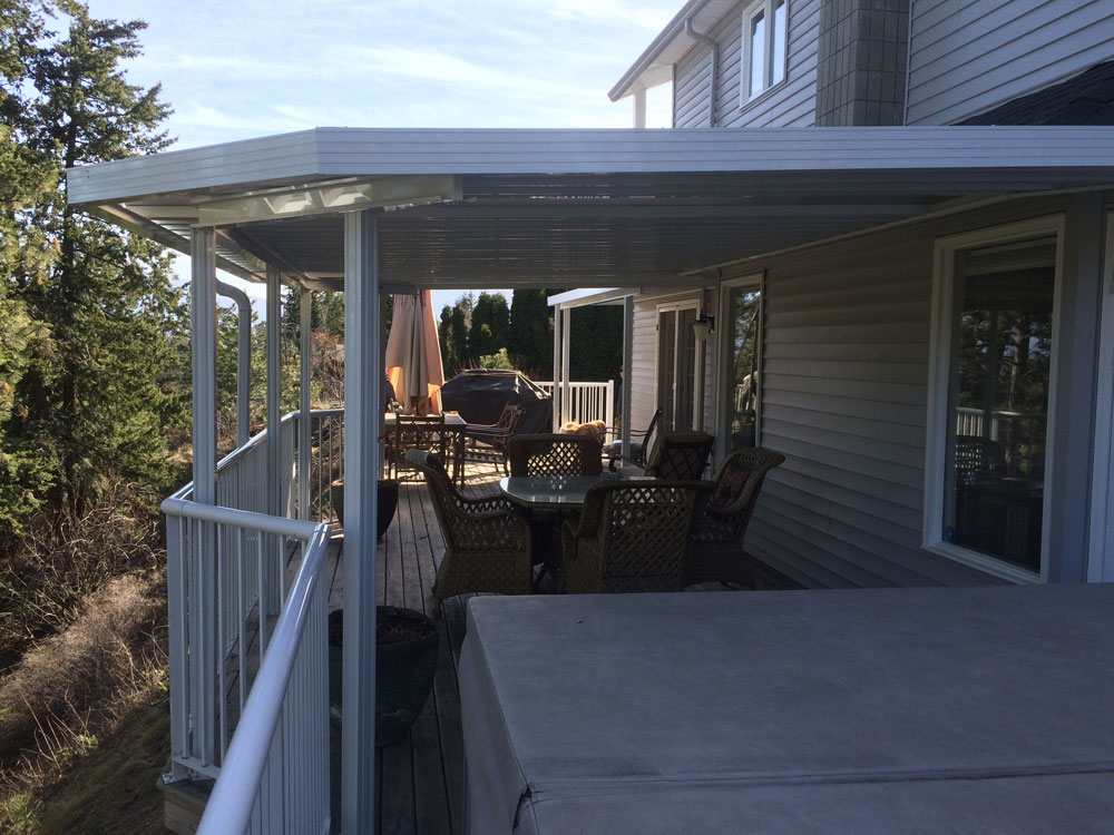 Half Of Patio Deck Covered