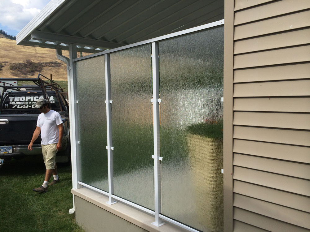 Privacy Glass From Outside Patio Cover