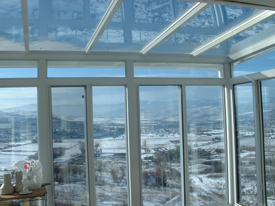 all glass and aluminum solarium