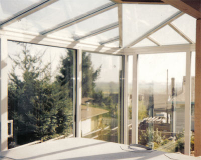 glass roof sunroom