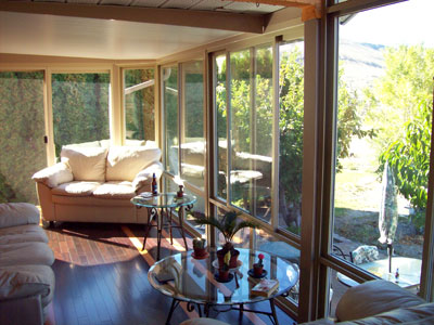 a very nice sunroom interior