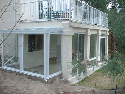 a very large sunroom